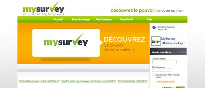 Mysurvey : la rolls des sites de sondages rémunérés en ligne