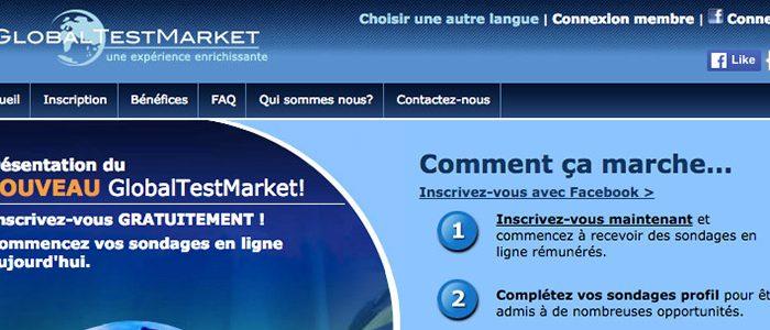 Globaltestmarket : un des sites les plus sérieux et les plus rémunérateurs