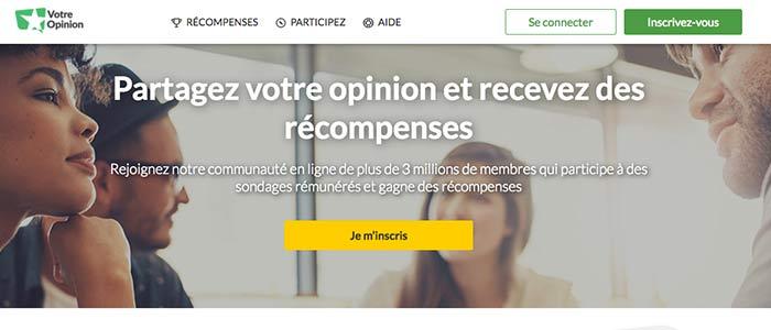 Votre Opinion : Un site de sondages et de tests de produits rémunérateurs au 3 millions de membres à travers le monde !