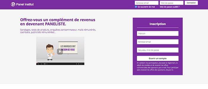 Panel Institut : le site de sondages, tests de produits et mail rémunérés, notre AVIS !