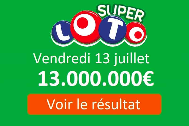 Super Lotto du vendredi 13
